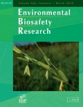 Environmental Biosafety Research Cover page